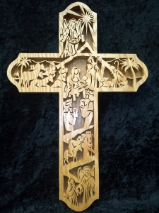 Beautiful Wood Carved Cross King S Way Auction